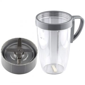 Extractor Blade + 24 oz Tall Cup Replacement Part Compatible with NutriBullet 600W 900W Blenders NB-101B NB-101S NB-201