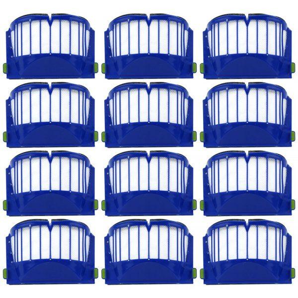 12 Pack iRobot Roomba 500 & 600 Series AeroVac Filters Blue Part # 20938