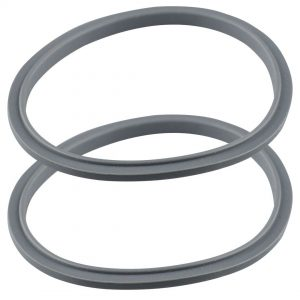 2 Gray Gasket Replacements for NutriBullet 600W 900W Extractor or Flat Milling Blades NB-101