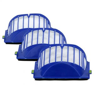 3 Pack iRobot Roomba 500 & 600 Series AeroVac Filters Blue Part # 20938