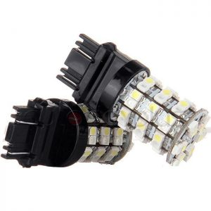 Felji 3157 60 SMD Dual Color Switchback White Amber Turn Signal Led Light Bulbs 3057 2 Pack