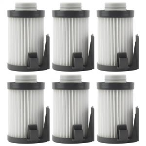 6 Pack Felji Washable HEPA Dust Cup Vacuum Filters for Eureka DCF-10, DCF-14, Part # 62731, 62396