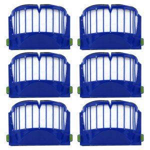 6 Pack iRobot Roomba 500 & 600 Series AeroVac Filters Blue Part # 20938