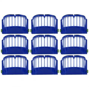 9 Pack iRobot Roomba 500 & 600 Series AeroVac Filters Blue Part # 20938