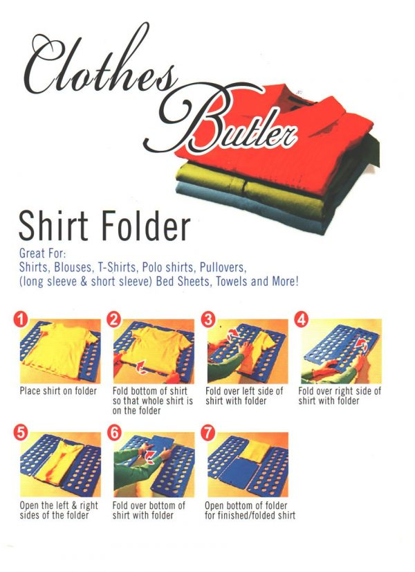Felji Blue Flip & Fold Adult Clothes Folder Shirt Folding Board