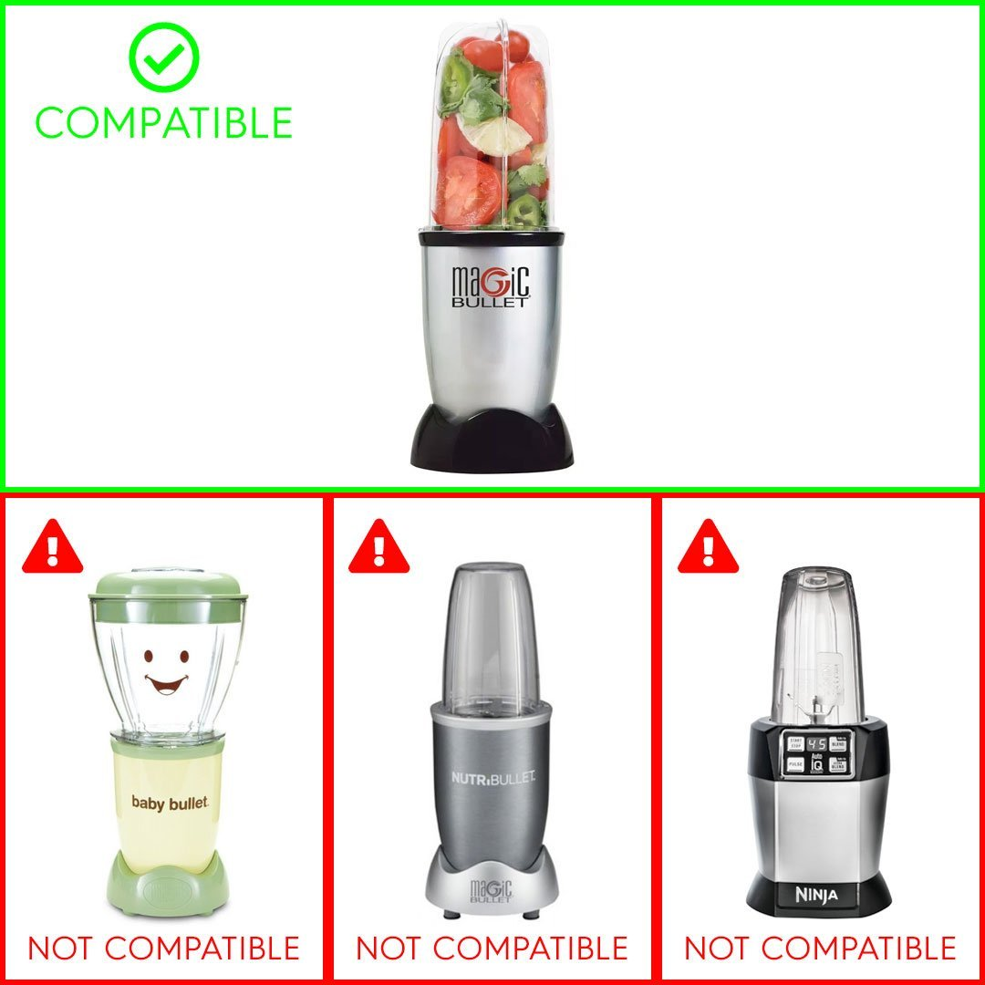 Professional Replacemnt Flat Blade compatible with Magic Bullet Blender Mixer Juicer