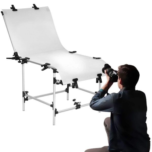 Felji 24x51 Inch Pro Plexiglas Cover Photo Shooting Table for Still Life Photography