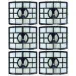 Felji 6 Pack HEPA Filter Replacement for Shark NV650, NV651, NV652, NV750, NV751, NV752, NV755 Part # XHF650