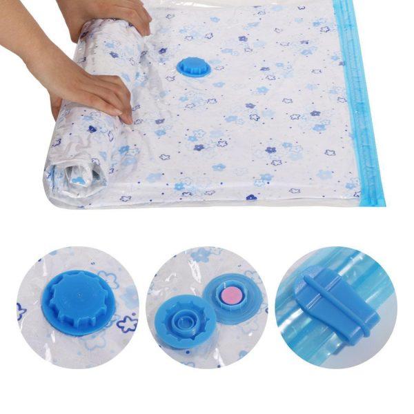 Felji Space Saver Bags Vacuum Seal Storage Bag Organizer 6 Pack (2 Small, 2 Medium, 2 Large)