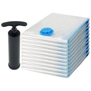 Felji Space Saver Bags Vacuum Seal Storage Bag Organizer Size Medium 23x27 inches 10 Pack + Free Pump