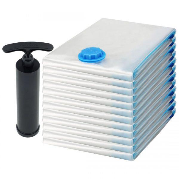 Felji Space Saver Bags Vacuum Seal Storage Bag Organizer Size Medium 23x27 inches 12 Pack + Free Pump