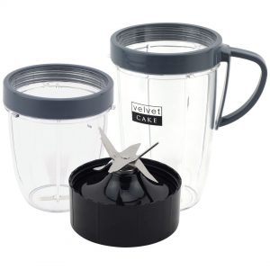 18 oz 24 oz Cups & Extractor Blade Upgrade Kit Replacement Parts Compatible with NutriBullet Lean NB-203 1200W Blenders