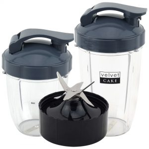18 oz 24 oz Cups with Flip To Go Lids & Extractor Blade Upgrade Kit for NutriBullet Lean NB-203 1200W Blender