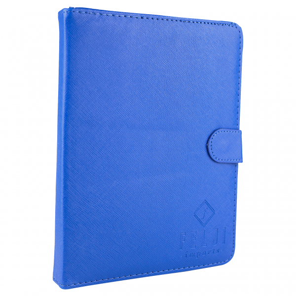 Felji Blue Stand Leather Case Cover for Android Tablet 7-Inch Universal w/ USB Keyboard