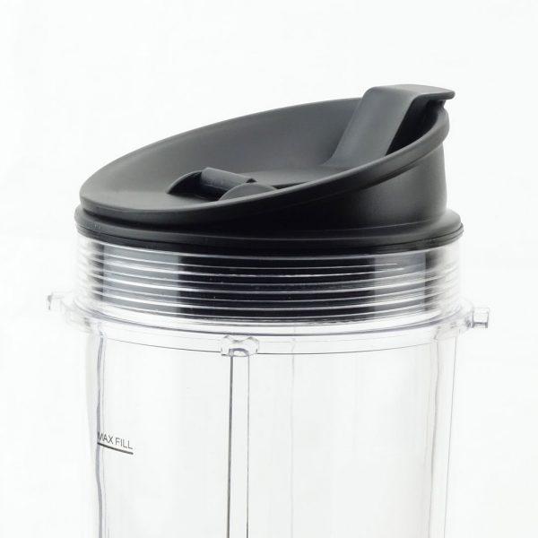 3 Pack Nutri Ninja Sip & Seal Lids Replacement Model 408KKU641 for BL480 BL490 BL640 & BL680 Auto IQ Series