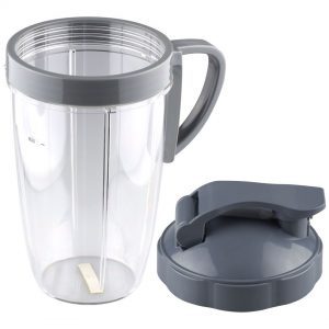 NutriBullet 24 oz Tall Cup with Handled Lip Ring and Flip To-Go Lid