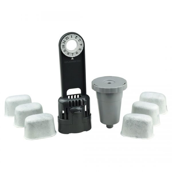 Keurig Water Filter Holder + 6 Charcoal Water Filters + 1 My K-Cup 1.0
