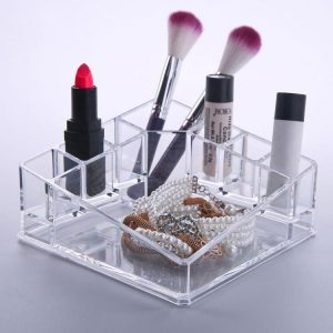 Felji Acrylic Diamond Shaped Makeup Organizer with Tray 1119