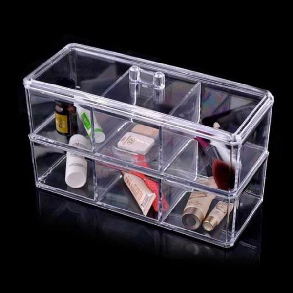 Felji Acrylic Jewelry & Makeup Organizer 3 Compartments Stackable 1172