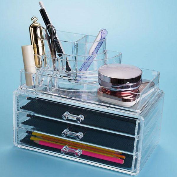 Felji Acrylic Jewelry & Makeup Organizer with 3 Drawers 1303