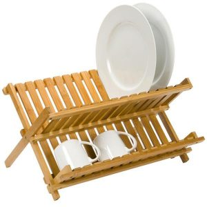 Felji Bamboo Folding Dish Rack