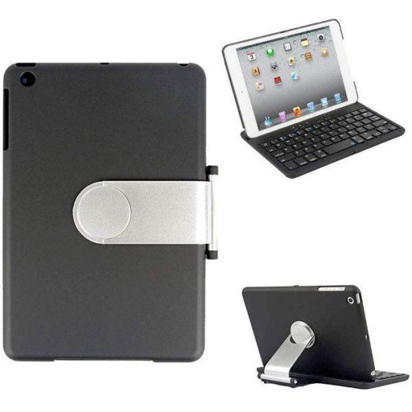 Felji Cover Case Swivel Rotary Stand Bluetooth Wireless Keyboard iPad Mini Black