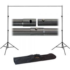 Felji 10ft Adjustable Background Support Stand Photo Backdrop Crossbar Kit Photography