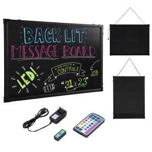 "Felji 31x23"" Flashing Illuminated Erasable Neon LED Message Board"