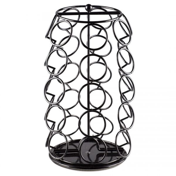 Felji 35 Capacity Coffee Pod Carousel For Keurig K-Cup in Black