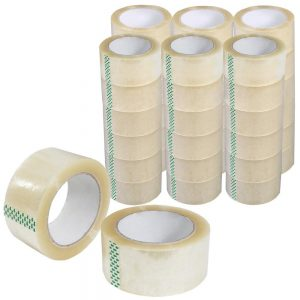 Felji 36 Rolls 2x110 Yards (330' ft) Box Carton Sealing Packing Package Tape