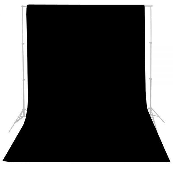 Felji Studio 10 x 20 Ft. Black Muslin Photo Backdrop Photography Background