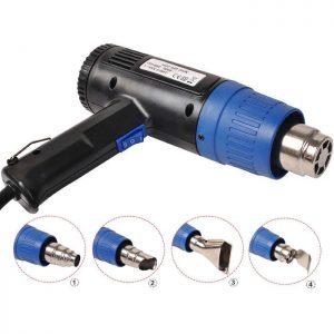 Heat Gun Hot Air Gun Dual Temperature 4 Nozzles Power Tool 1500 W