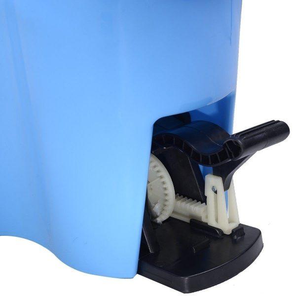 Felji Microfiber Spin Mop Easy Floor Mop with Bucket and 6 Mop Heads - 360 Rotating Head, Blue