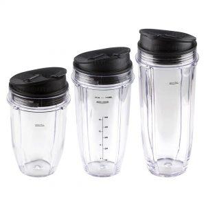 Nutri Ninja 18 24 32 oz Cups with Sip & Seal Lid Replacement Model 427KKU450 483KKU486 407KKU641 408KKU641