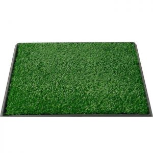 Felji Pet Potty Training Grass Pads for Dogs Zoom Park Patch Mat Indoor 25x20x2 Inches