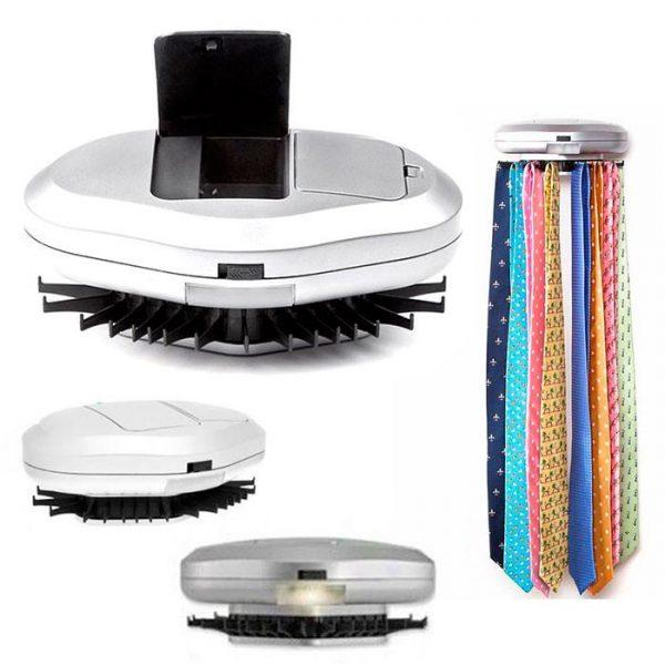 Felji Revolving Electric 30 Neck Tie Rack Hanger Belt Organizer Hold Closet LED Light