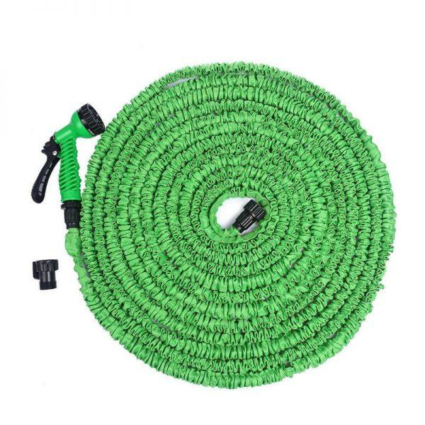 Felji 25 ft Expandable Garden Water Hose with Green Gun