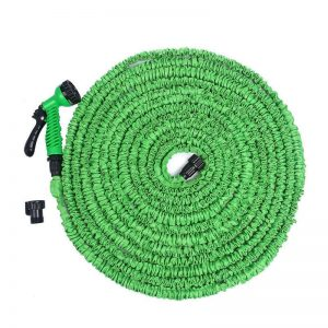 Felji 100 ft Expandable Garden Water Hose with Green Gun