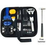 13-Piece Watch Repair Tool Kit Opener Link Remover with Carrying Case