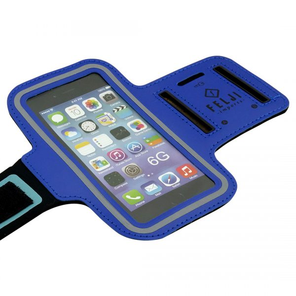 Small Sport Armband Case Bag for iPhone 6S 7 8 X Samsung Galaxy, Blue