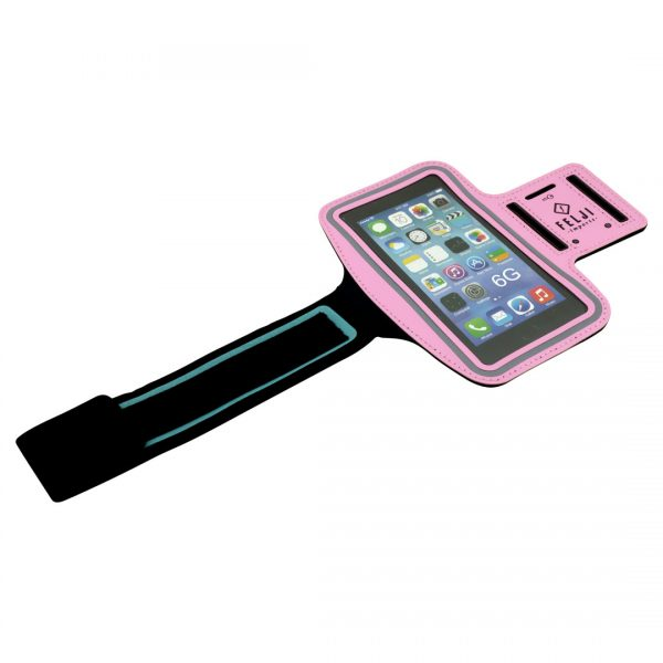 Small Sport Armband Case Bag for iPhone 6S 7 8 X Samsung Galaxy, Pink