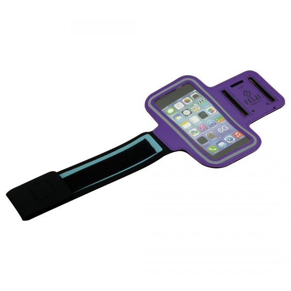 Small Sport Armband Case Bag for iPhone 6S 7 8 X Samsung Galaxy, Purple