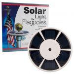 Felji Solar Flag Pole Light, 26 Ultra-Bright LED Lights