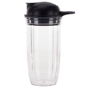 24 oz Cup and To-Go Lid Replacement Parts Compatible with NutriBullet Pro 1000, Combo and Select Blenders